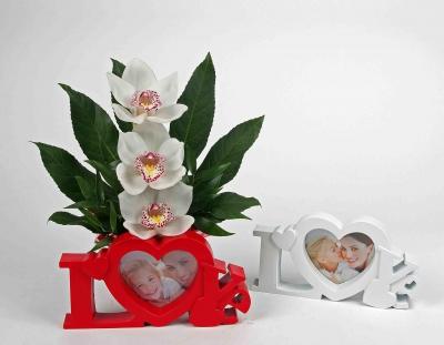 Love foto lijstje met 3 orchideeën